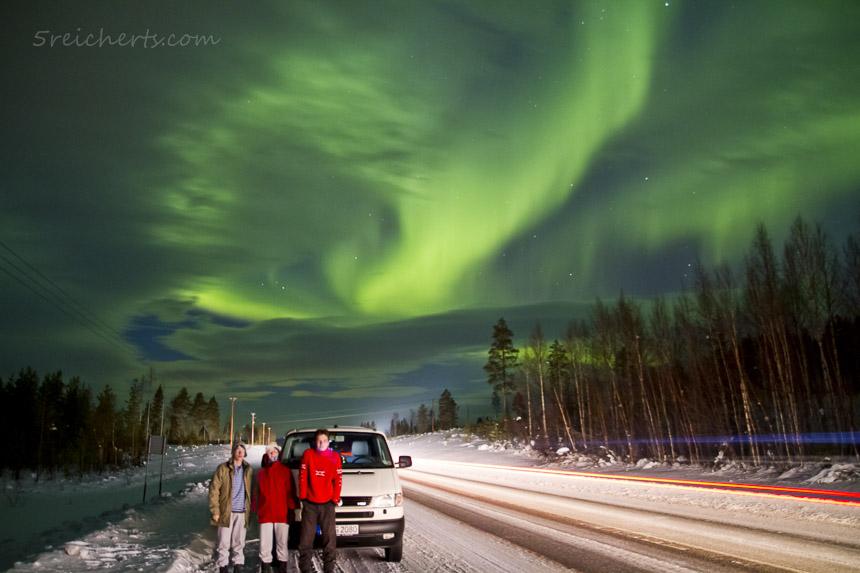2011 in einer Nordlichtnacht, schwedisch Lappland